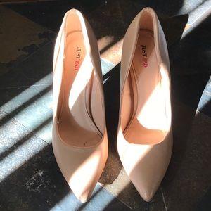 Nude JUSTFAB heels